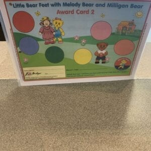 Little Bear Feet with Melody Bear and Milligan Bear Award Card 2