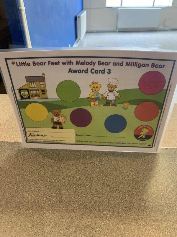 Little Bear Feet with Melody Bear and Milligan Bear Award Card 3