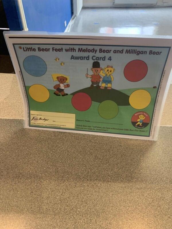 Little Bear Feet with Melody Bear and Milligan Bear Award Card 4