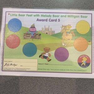 Little Bear Feet with Melody Bear and Milligan Bear Award Card 5