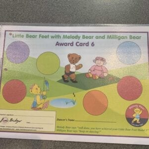 Little Bear Feet with Melody Bear and Milligan Bear Award Card 6