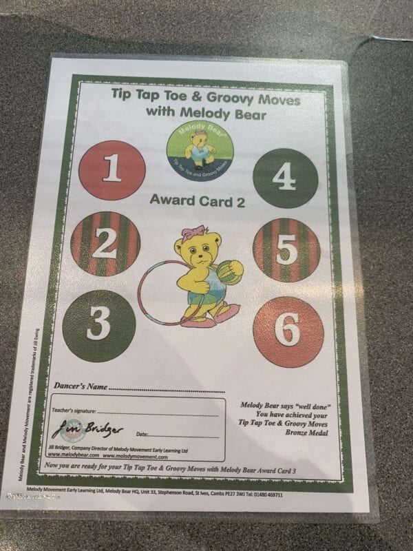 Tip Tap Toe and Groovy Moves Chart 2