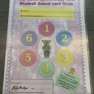 First Ballet with Melody Bear Bluebell Award Card 3
