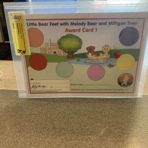 Little Bear Feet with Melody Bear and Milligan Bear Award Card 1